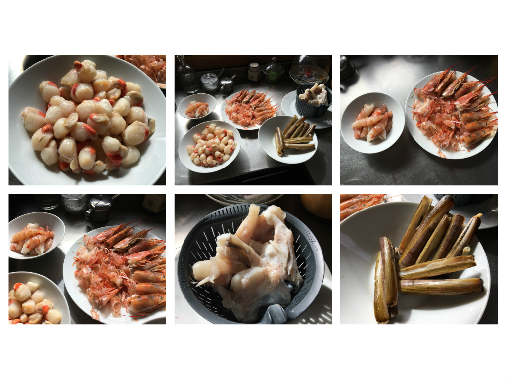 Menú del día: Arroz caldoso con navajas, langostinos y zamburiñas en Thermomix®
