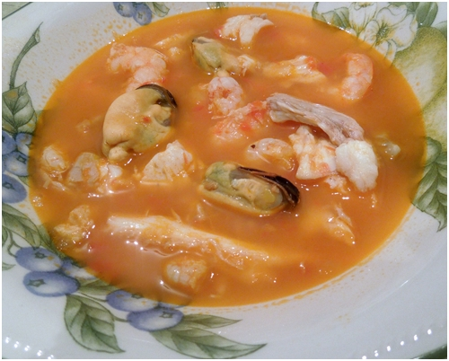 SOPA DE PESCADO Y MARISCO, LIGHT