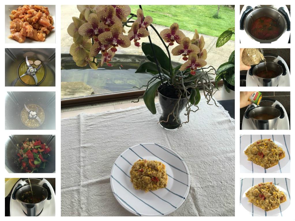 Menú del día con Thermomix® : Arroz amarillo con pollo