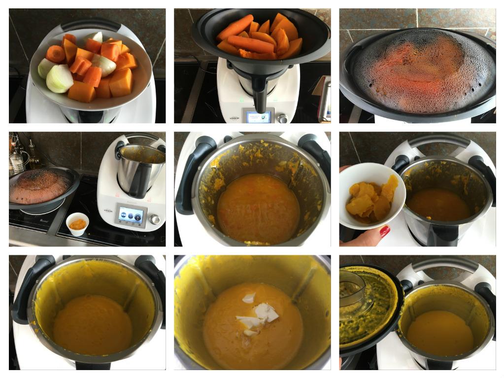 Crema de calabaza y naranja con Thermomix®
