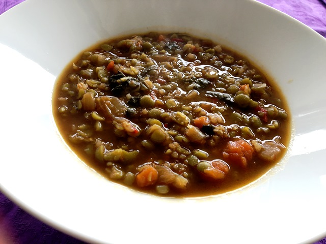 Menú del día: Lentejas vegetarianas con Thermomix®