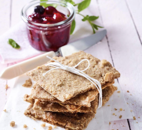 Pan crujiente de nueces - Snack saludable