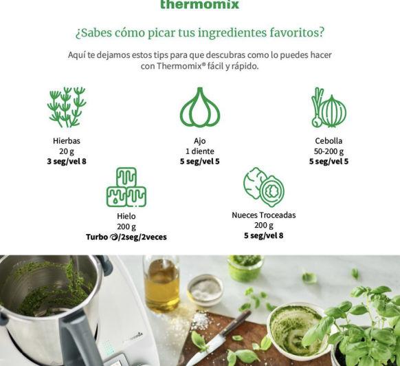 Picar con Thermomix® - TIP de los 5 ingredientes más usados