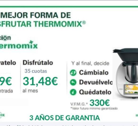 OPCION Thermomix® : COMO PAGAR TU Thermomix® EN COMODOS PLAZOS