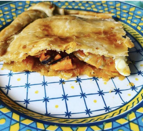 Empanada de mejillones y langostinos con Thermomix® TM6