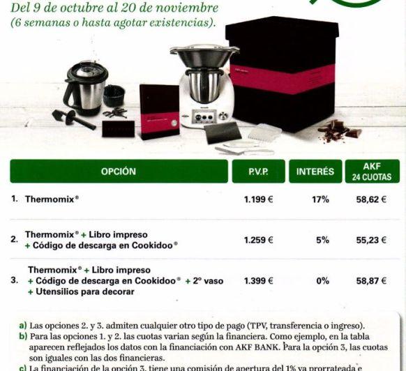 Thermomix® SIN INTERESES!!!Último día Edición Chocolate