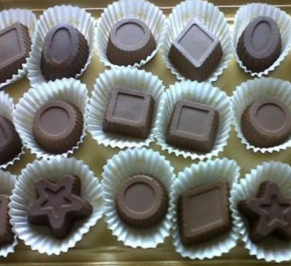Bombones tres chocolates