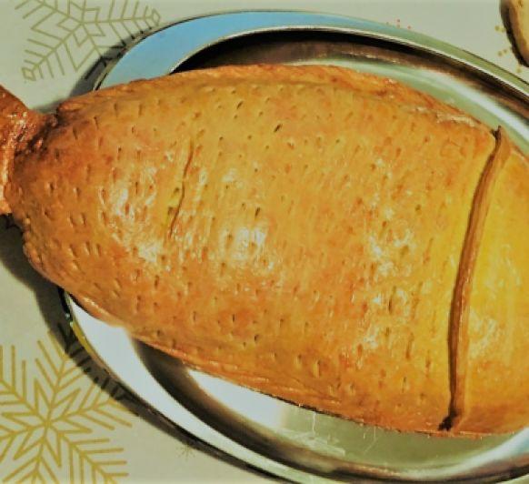 Salmón en capa de brioche