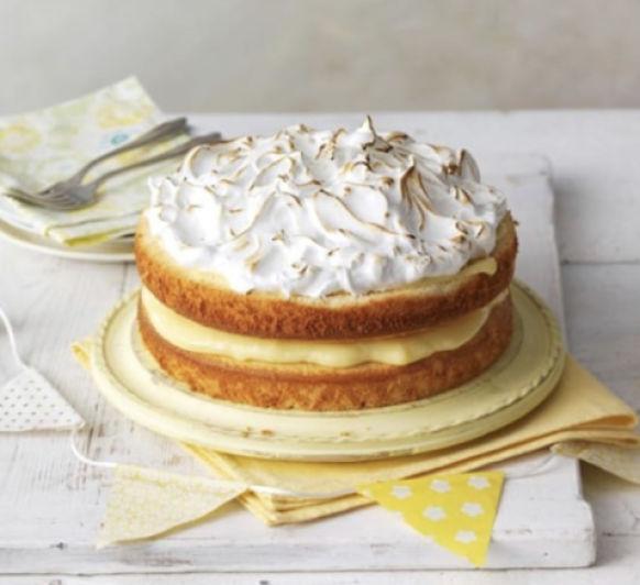 Pastel de merengue de limón con glaseado de 10 minutos