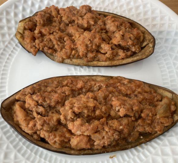 Berenjenas de carne picada de ternera y cerdo