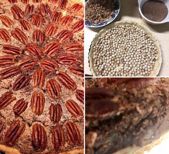 Extremadamente deliciosa!!! Una mezcla entre un Brownie muy cremoso y el crujiente de las nueces pecanas.