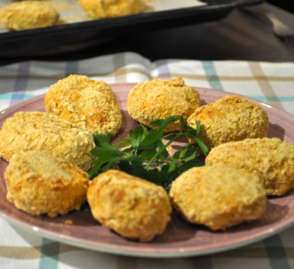 Nuggets saludables de pollo (o pavo) con Thermomix® aptos para celíacos #TM6 #TM5 #TM31 #TM21